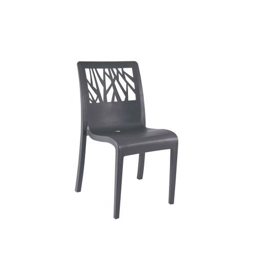 chaise de jardin vegetal anthracite